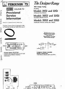 Schematic Diagram Manual Ferguson Tx100 Colour Television