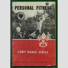 1963 Vintage Boy Scout Merit Badge Book  Personal Fitness  Well Used Ebay
