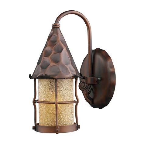copper wall sconces titan lighting rustica 1 light wall mount outdoor antique