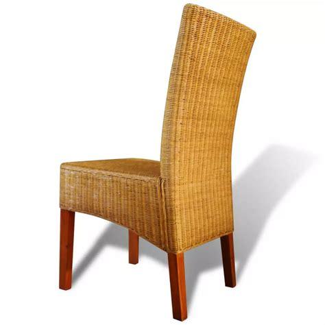 set de cuisine en rotin acheter set de 4 chaises en rotin tressées pas cher vidaxl fr