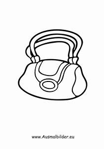 Ausmalbilder Handtasche Kleidung Malvorlagen