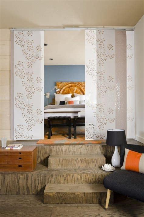 Raumteiler Wohnzimmer Schlafzimmer by Raumteiler Schlafzimmer Schiebevorhang Wei 223 Blumenmotive