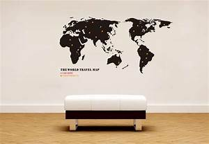 globetrotting home decor world map wall decals With awesome wall decal directions