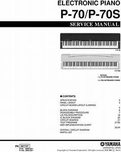 Yamaha P70 P-70 Digital Piano Complete Service Manual