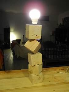 Lampe En Palette : lampe en palette 2 avec interrupteur douille lectrique e14 40 cm de haut diy ~ Voncanada.com Idées de Décoration