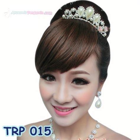 jual aksesoris rambut mahkota l mahkota pengantin wanita trp 015 aksesoris pengantin
