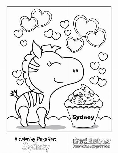 Coloring Pages Personalized Birthday Printable Names Getcolorings