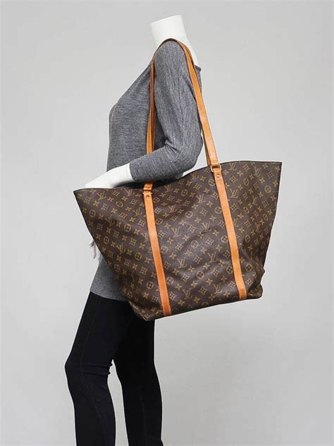 louis vuitton monogram canvas sac shopping gm tote bag