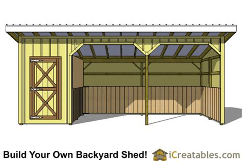 learn how 12x24 loafing shed plans
