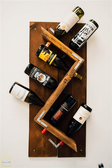 wall hanging wine rack diy industrial wall mounted wine rack zest it up