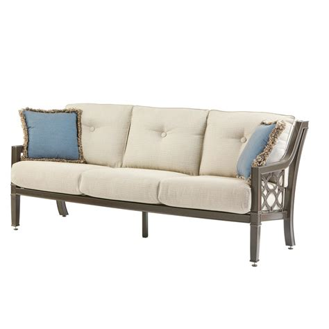 Metal Outdoor Loveseat by Hton Bay Torquay Wicker Outdoor Sofa With Charleston