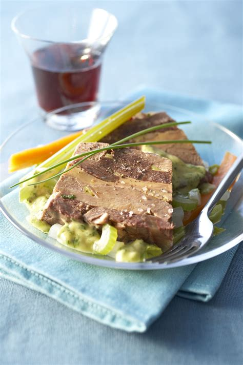 cuisiner du foie de boeuf terrine de langue de boeuf au foie gras recettes de