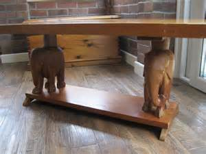 African Carved Wood Coffee Table