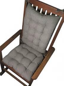 madrid check black gingham rocking chair cushion set