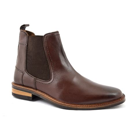 Shop Mens Dark Brown Chelsea Boots   Gucinari Design