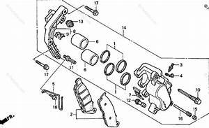 Honda Motorcycle 1998 Oem Parts Diagram For Front Brake
