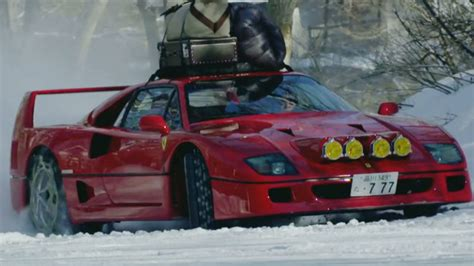 Esoteric explains that the f40's paint is extremely vulnerable to cracks. This is how you go camping with a Ferrari F40 in the snow   Autoblog