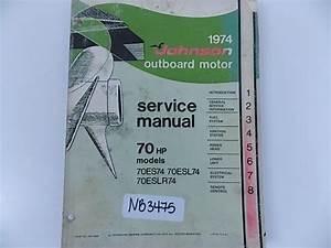 Johnson Evinrude Service Manual 70 Hp Models 1975 Jm