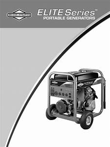 Briggs  U0026 Stratton Portable Generator 30207 User Guide