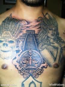 Aztec Chest Plate Tattoo
