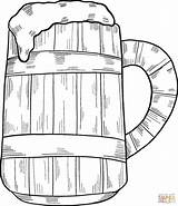 Coloring Beer Mug Pages sketch template