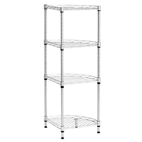 kitchen cabinet shelving racks 4 tier wire shelving rack metal shelf adjustable corner