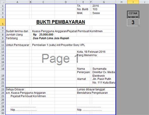 Contoh Kwitansi Pembayaran Excel by Rumus Kwitansi Tutorial Microsoft Excel
