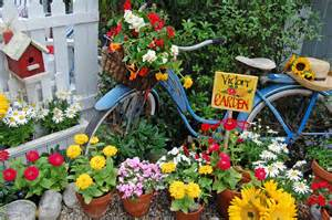 Garden Bicycle with Flowers