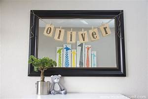 Burlap name bunting for baby oliver s nursery make
