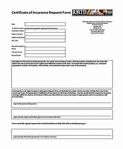 certificate form templates With certificate of insurance request form template