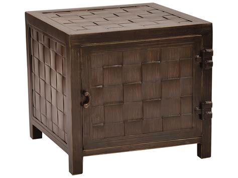 castelle aluminum 20 square storage end table vss20