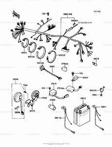 Kawasaki Motorcycle 1986 Oem Parts Diagram For Chassis