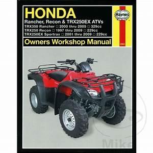 Honda Trx 350 Te Fourtrax Es 2003 Haynes Service Repair Manual 2553