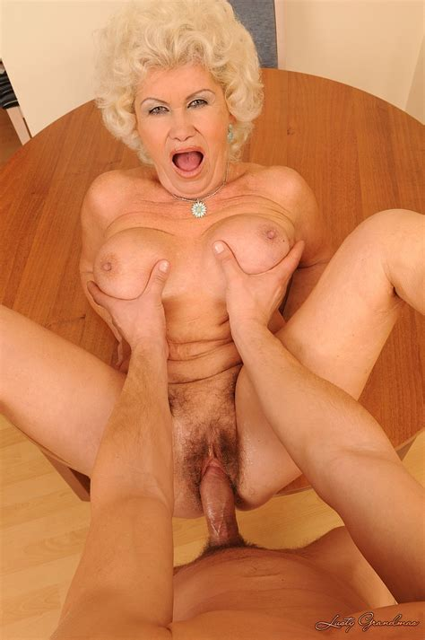 Big Breasted Granny Effie Takes Stiff Cock In Her Mouth
