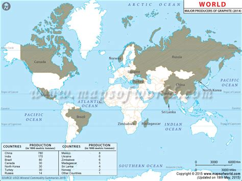world graphite producing countries map