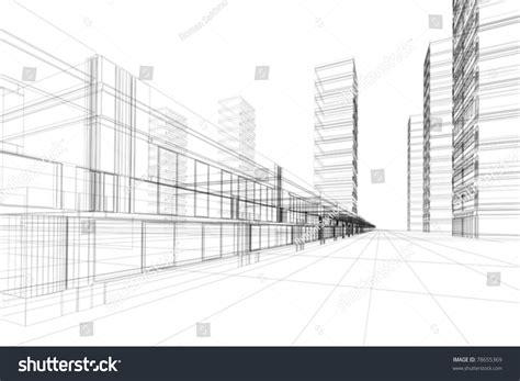 bureau 騁udes structure abstract 3d vector construction office building stock