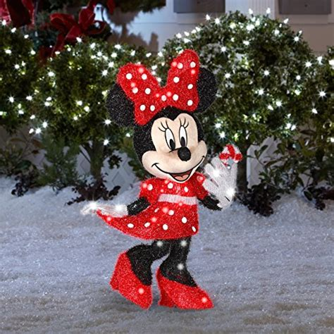 minnie mouse christmas decorations minnie mouse lighted yard decoration