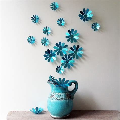 pcs  flower wall decal vinyl arts removable wall