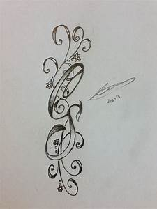 cs initials tattoo by a18cey on deviantart With initials design