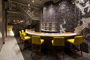 Restaurant barstool and wall decor design idea for modern