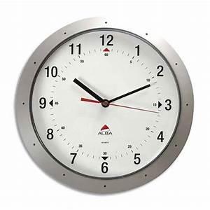 Horloge Murale Grise : horloge murale quartz grise 30 cm horloge pendule quartz ronde mural murale fixer au mur ~ Teatrodelosmanantiales.com Idées de Décoration
