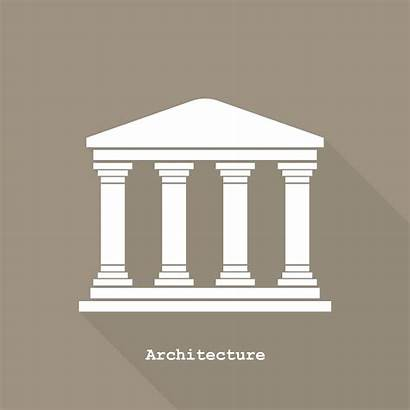 Temple Greek Icon Graphic Layout Creativemarket Drawing