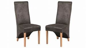 Chaise Grise Pas Cher : chaises design pas cher en microfibre grise chaise salle manger ~ Teatrodelosmanantiales.com Idées de Décoration