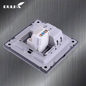Telephone And Computer Wall Socket Double Port Rj45