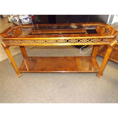 Custom sizes and finishes available. Mid-Century Modern Mahogany & Beveled Smoke Glass Coffee Table | Chairish