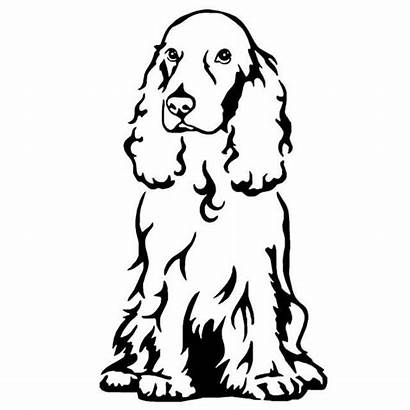 Spaniel Cocker Dog Decal Silhouette Chien Styling