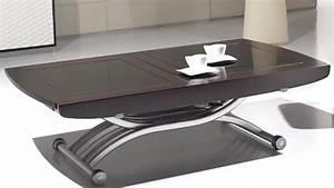 Table De Salon Modulable : table basse en verre reglable en hauteur le bois chez vous ~ Teatrodelosmanantiales.com Idées de Décoration
