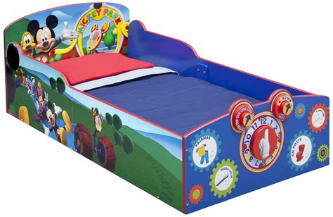 mickey mouse bed delta children interactive wood toddler bed disney mickey