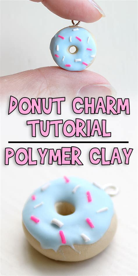 donut charm tutorial polymer clay woo jr kids activities