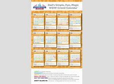 Dad's 2018 Walt Disney World Crowd Calendars New and